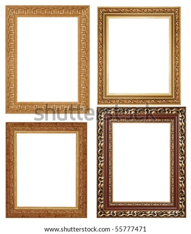 Four antique picture frames. High resolution