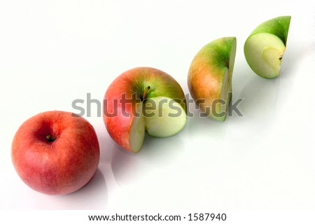 Four apples conceptual