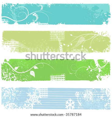 four banners - set - stock photo