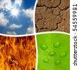 four basic elements of nature - stock photo