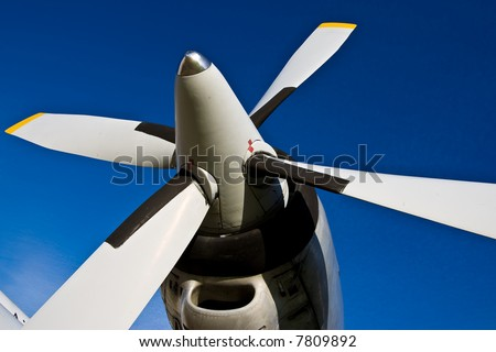 Four bladed propeller - stock photo