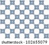 Four butterflies pasted at 45 degree angles, in a classic checkerboard pattern. Inverted, dark blue and gray butterflies, white background./ Butterfly Interlock Checker #10 / Classic looking style. - stock photo