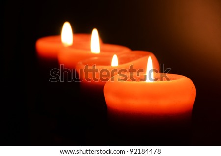 Four candles - stock photo