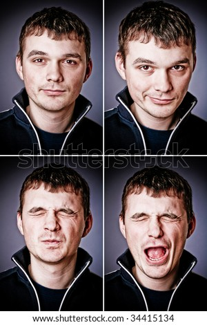 four characters of man - stock photo