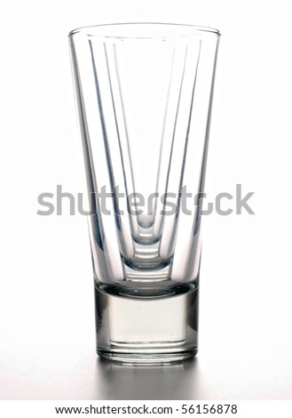 four clean glasses in a number of isolated on white - stock photo