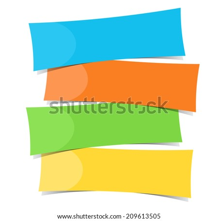 Four color banner template illustration - stock photo