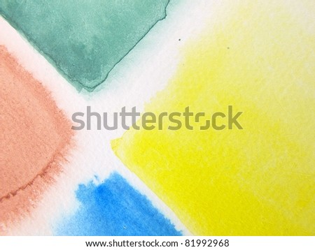 Four Color Watercolor - stock photo