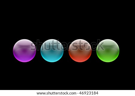 Four colored balls in a row