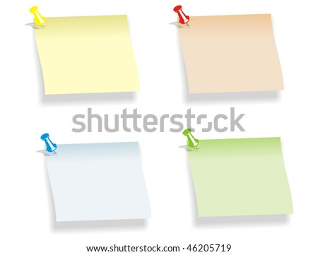four colored notes