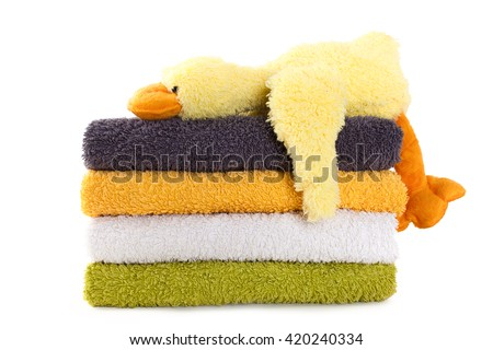 stock-photo-four-colorful-towels-with-ye