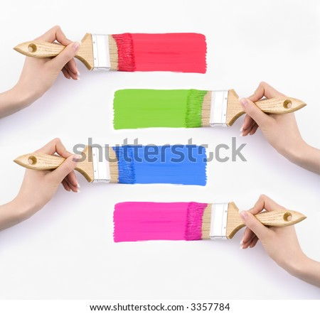 Four colours - on your text. - stock photo