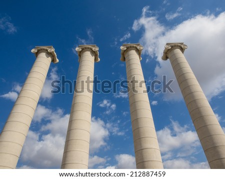 Four Columns are four Ionic columns symbolize the four stripes of the Catalan flag, and they were intended to become one of the main icons of Catalanism.