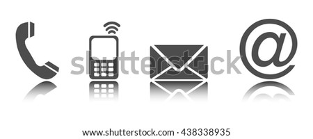 Four contacting symbols - Illustration