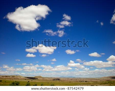 Four Corners Desert - stock photo