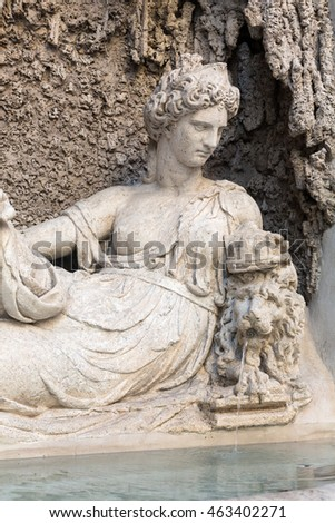 Four Fountains is a group of four Late Renaissance fountains  in Rome, Italy. The figure of one fountain  represent the goddess Juno