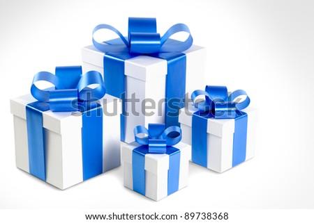 Four gift boxes - stock photo