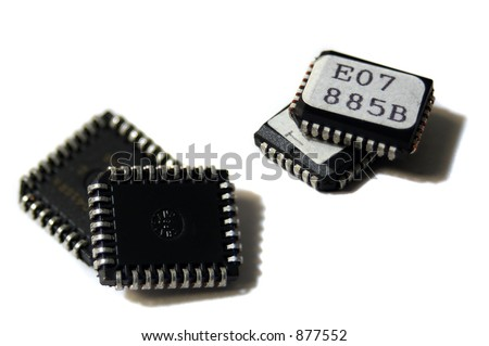 four isolated integrated eprom circuits