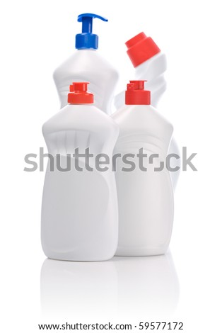 four kitchen bottle isolated