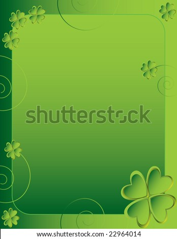 Four leaf clover background 1 - jpg version - stock photo