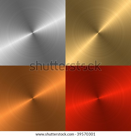 Four metal structures of different colours for a background - stock photo
