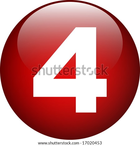 four (4) number button - stock photo