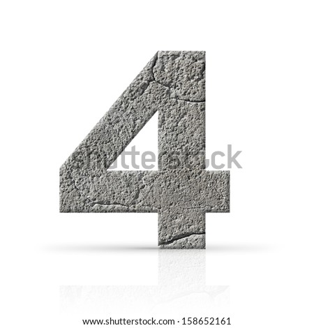 four number cement texture