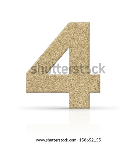 four number sand texture