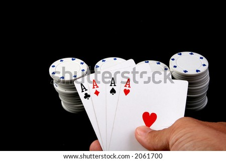 four of a kind aces - stock photo