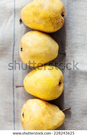 Four Pears - stock photo