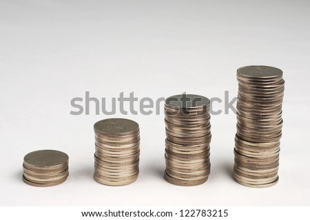 Four row stack coins