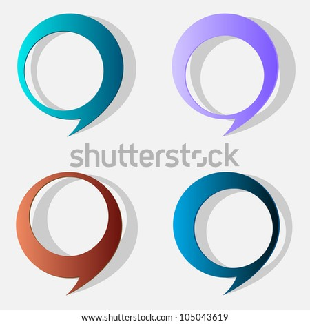 Four speech bubbles.Raster version - stock photo