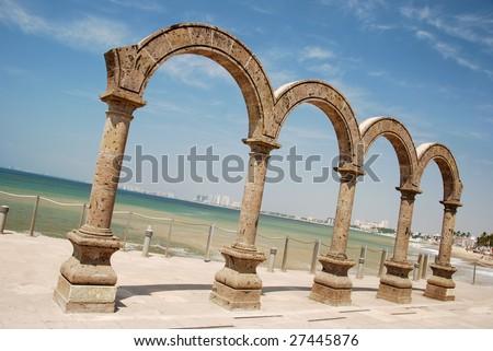 Four Stone Arches - stock photo