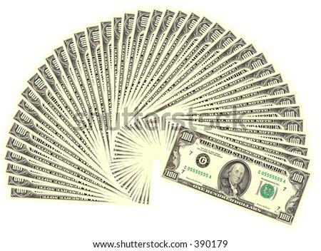 four thousand dollars - stock photo