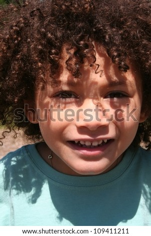 four year old multi racial girl