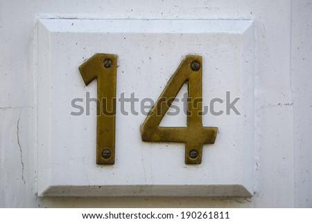 Fourteen - stock photo