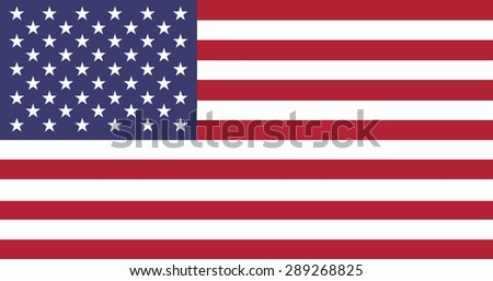 Fourth July, flat American flag background with fifty stars and red white stripes, America US