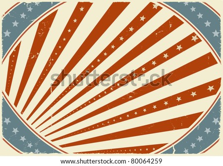 Fourth Of July National Holiday Poster Background/ Illustration of grunge horizontal fourth of july poster background, for american national holiday, independence day or BBQ party