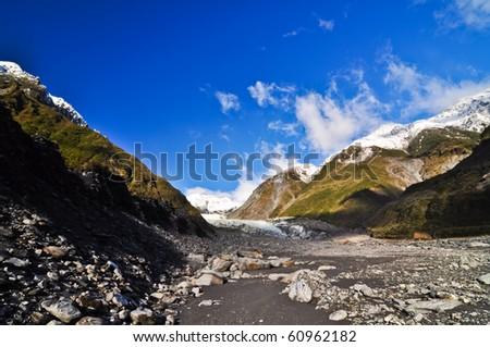 Fox Glacier, Newzealand - stock photo