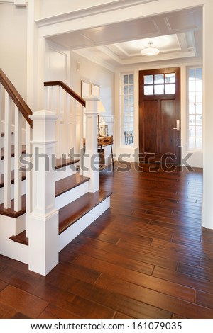Foyer/Entryway  in New Home - stock photo