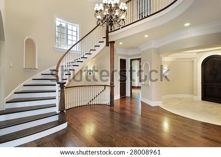 Foyer in new construction home - stock photo
