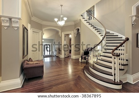 Foyer in traditional home - stock photo