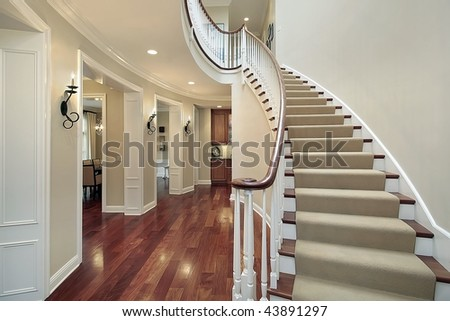 Foyer with butler's pantry - stock photo