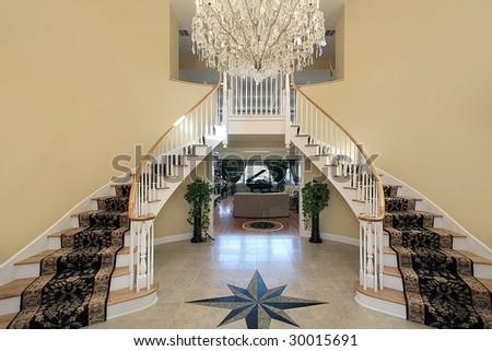 Foyer with floor design - stock photo