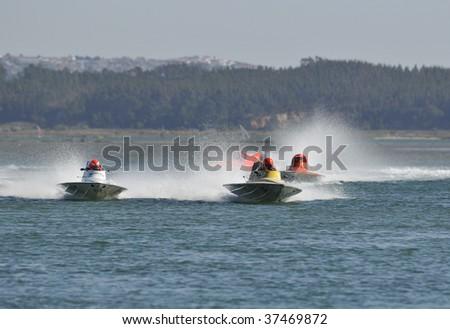 FOZ DO ARELHO - SEPTEMBER 20: Participates in the Grand Prix de Portugal Speedboat - Foz do Arelho in September 20, 2009 in Foz do Arelho in Portugal - stock photo