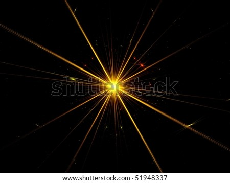Fractal abstract background - supernova explosion