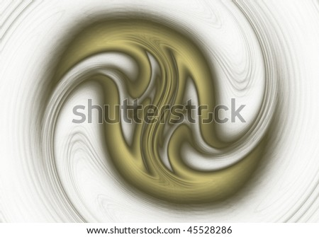 Fractal Abstract design of a Galaxy pattern on a black background - stock photo