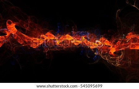 Fractal abstract fire chain. Beautiful background for art projects, business, template, banners