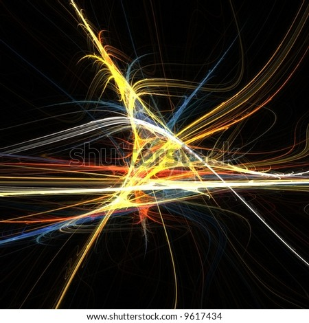 Fractal abstract of colorful lines