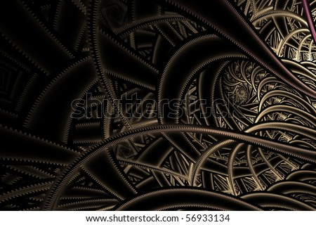 fractal abstraction on black background