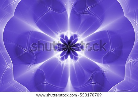 Fractal art background for creative design. Abstract fractal flower. Decoration for wallpaper desktop, poster, cover booklet, card. Psychedelic. Print for clothes, t-shirt. Magic graphics.